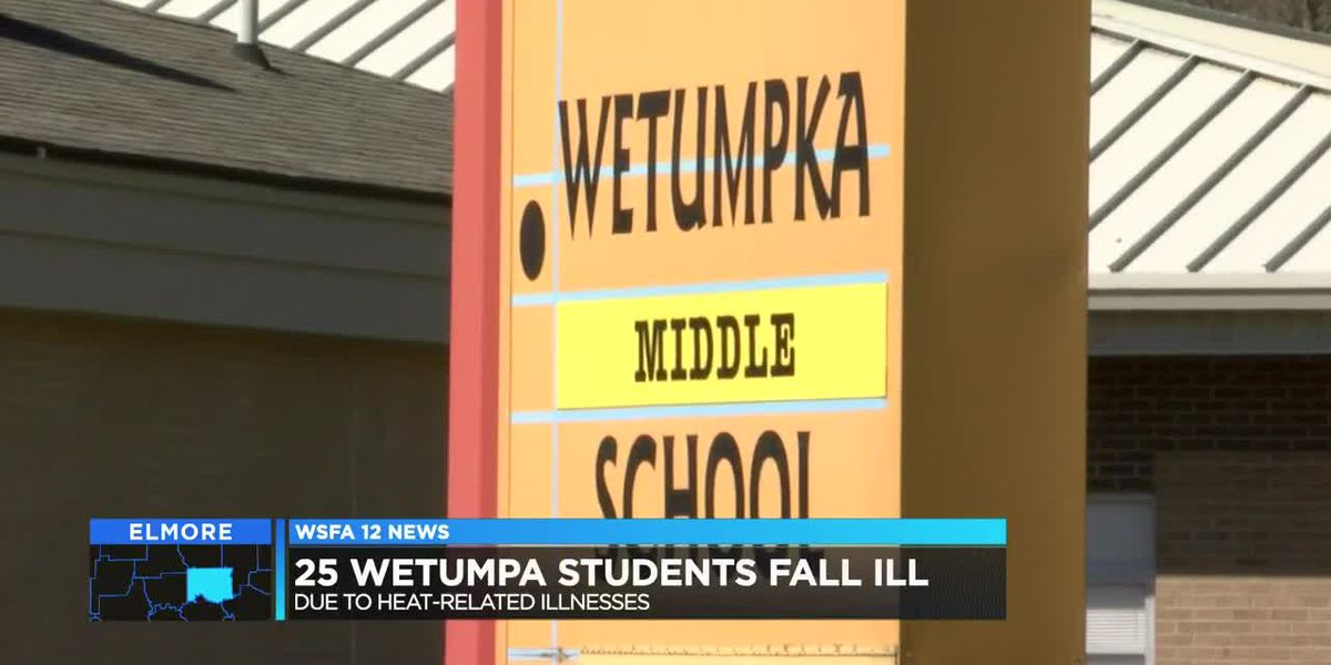 At least 25 Wetumpka Middle students overheated, 7 taken to hospital