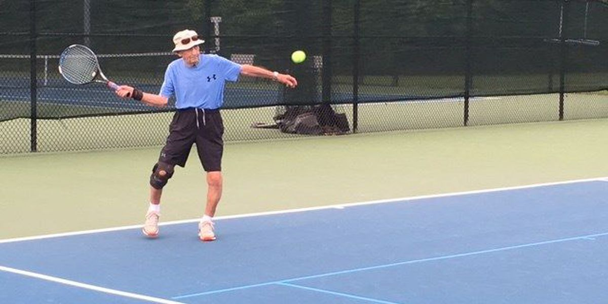 90 years young and still playing tennis