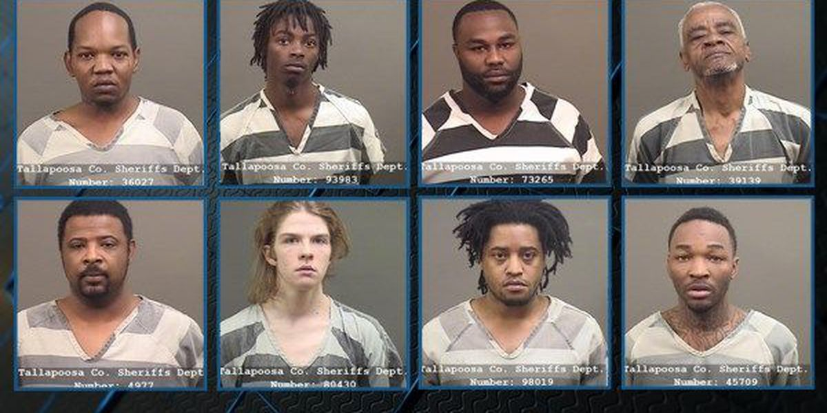 8 arrested in Tallapoosa County drug bust