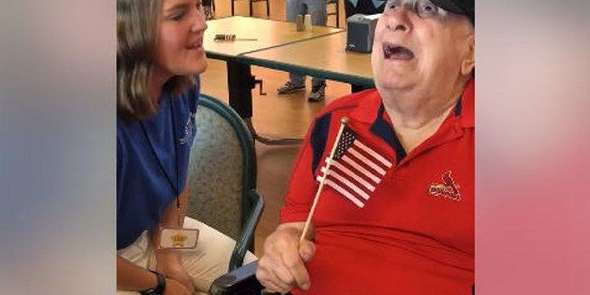 'God Bless America' brings together Alabama girl, blind Missouri veteran