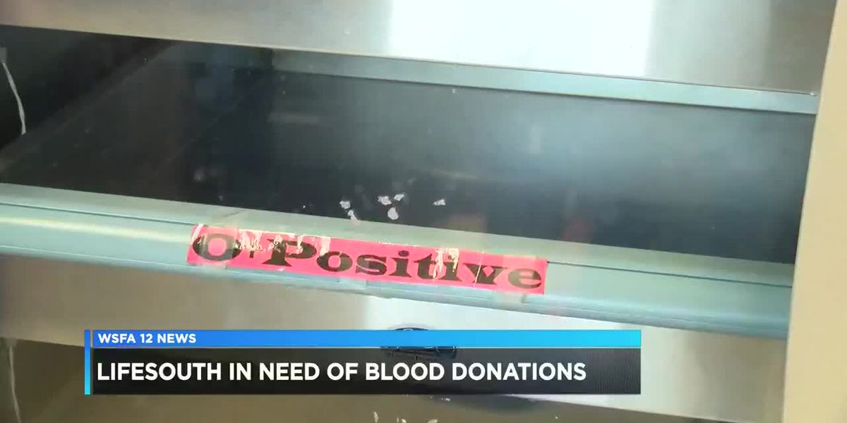 Lifesouth in need of blood donations