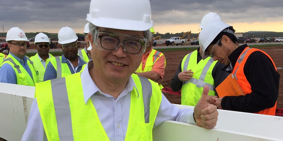 First steel beam installed at new Mazda Toyota plant