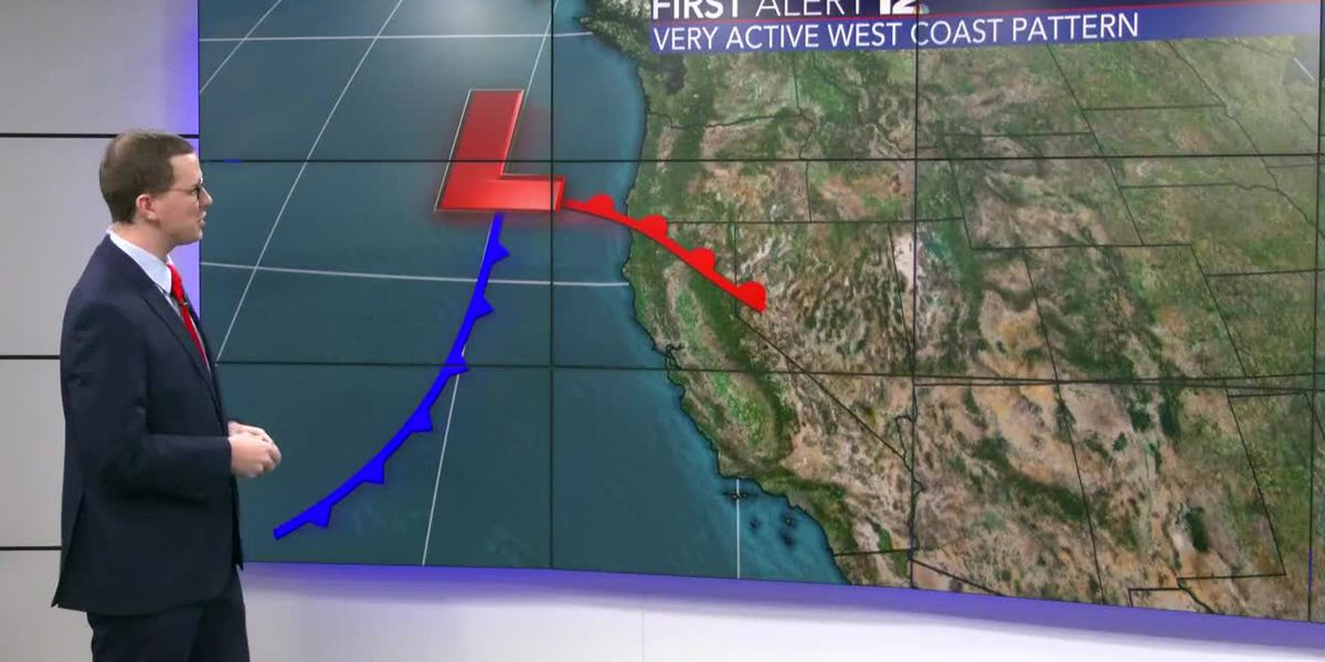 Active west coast pattern to bring very heavy snow to California