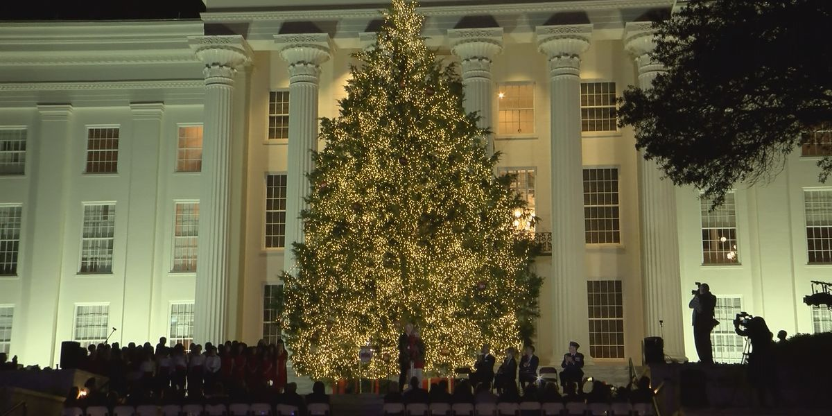 Gov. Kay Ivey lights state Christmas tree