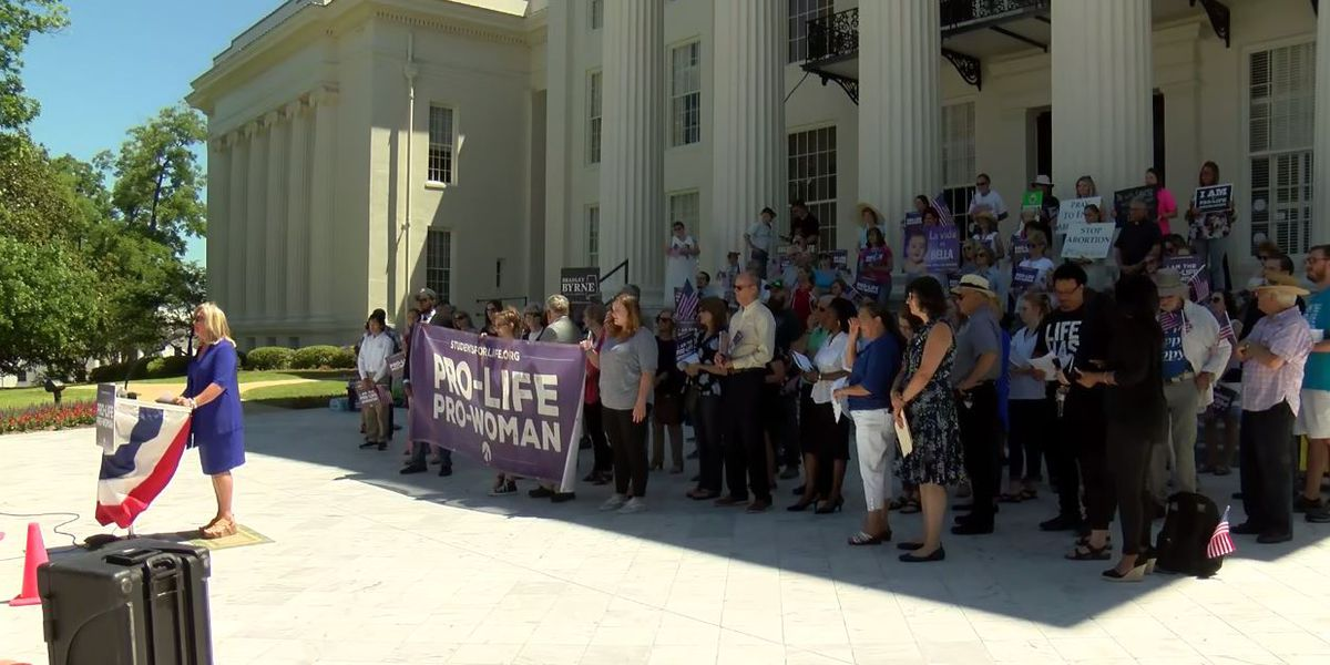 Anti-abortion rally held at Alabama Capitol