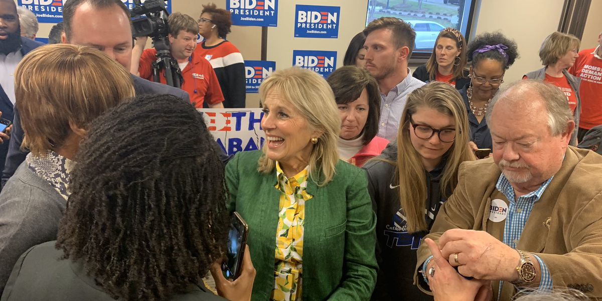 Jill Biden makes campaign stop in Montgomery on the eve of Super Tuesday