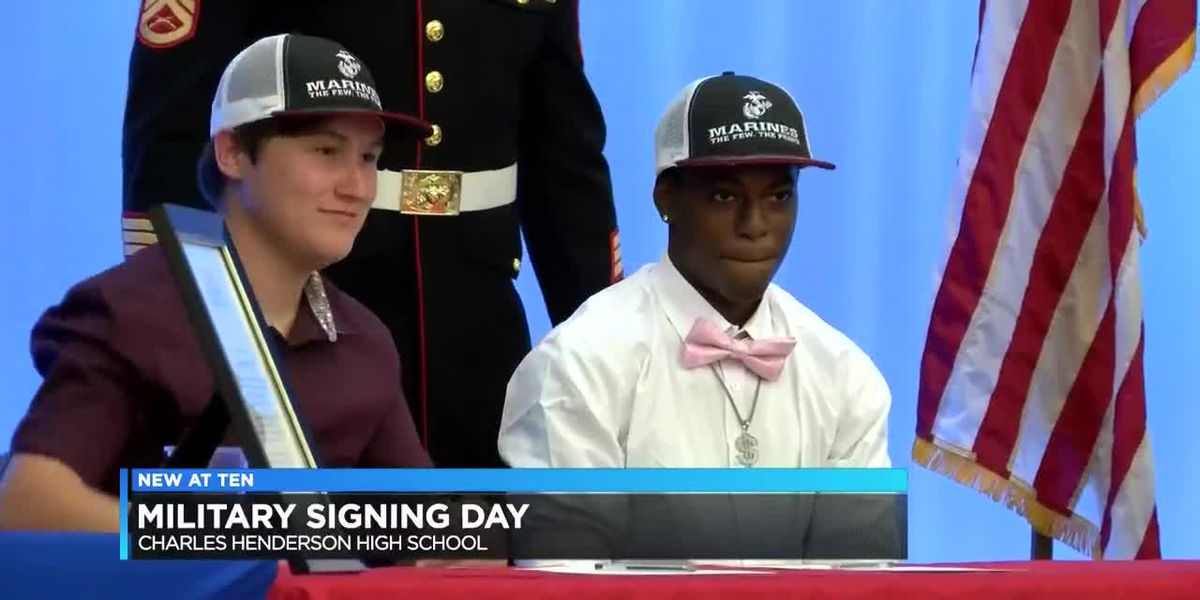 Charles Henderson holds first-ever Military Signing Day