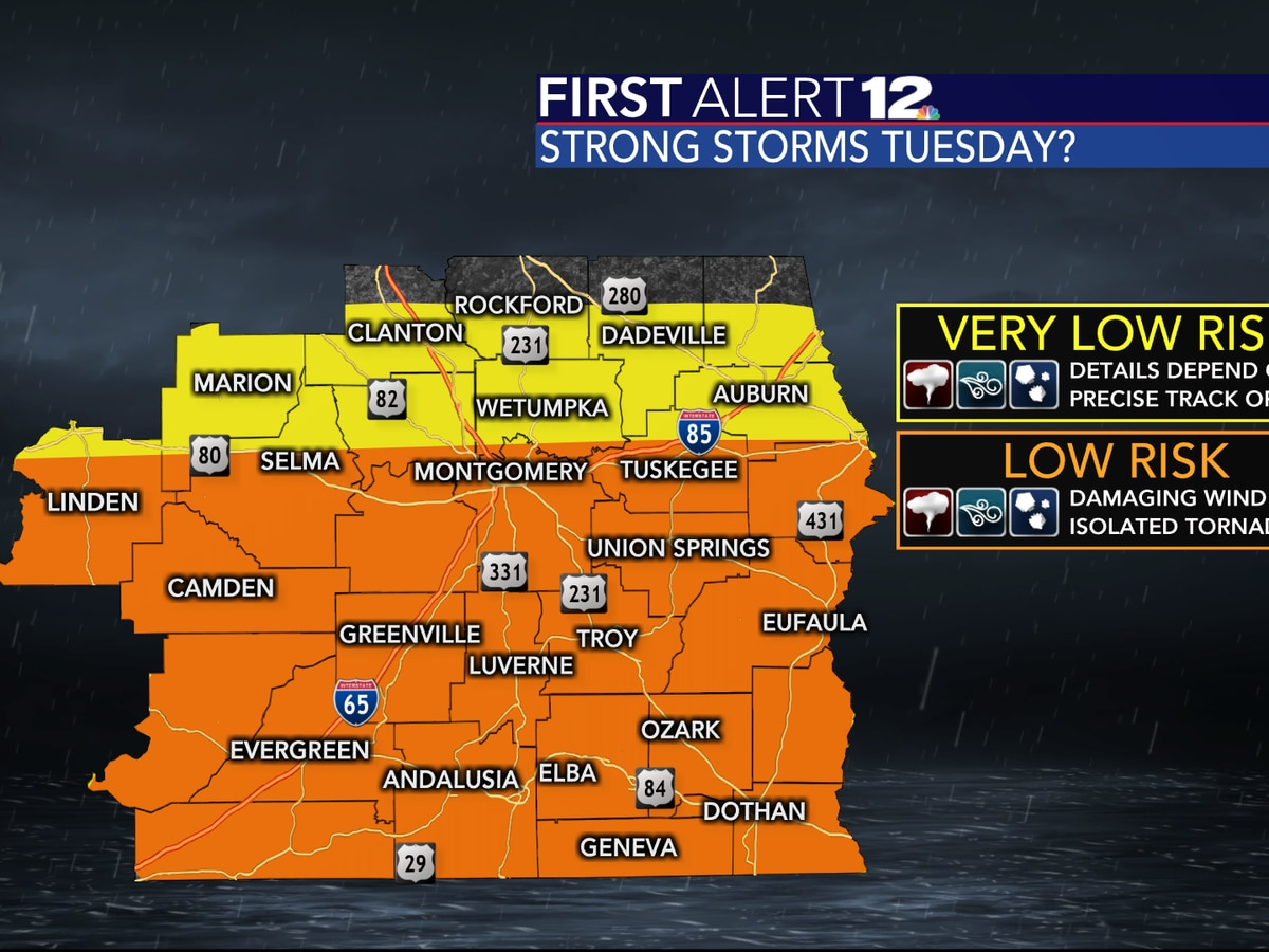 Severe storms arrive tomorrow