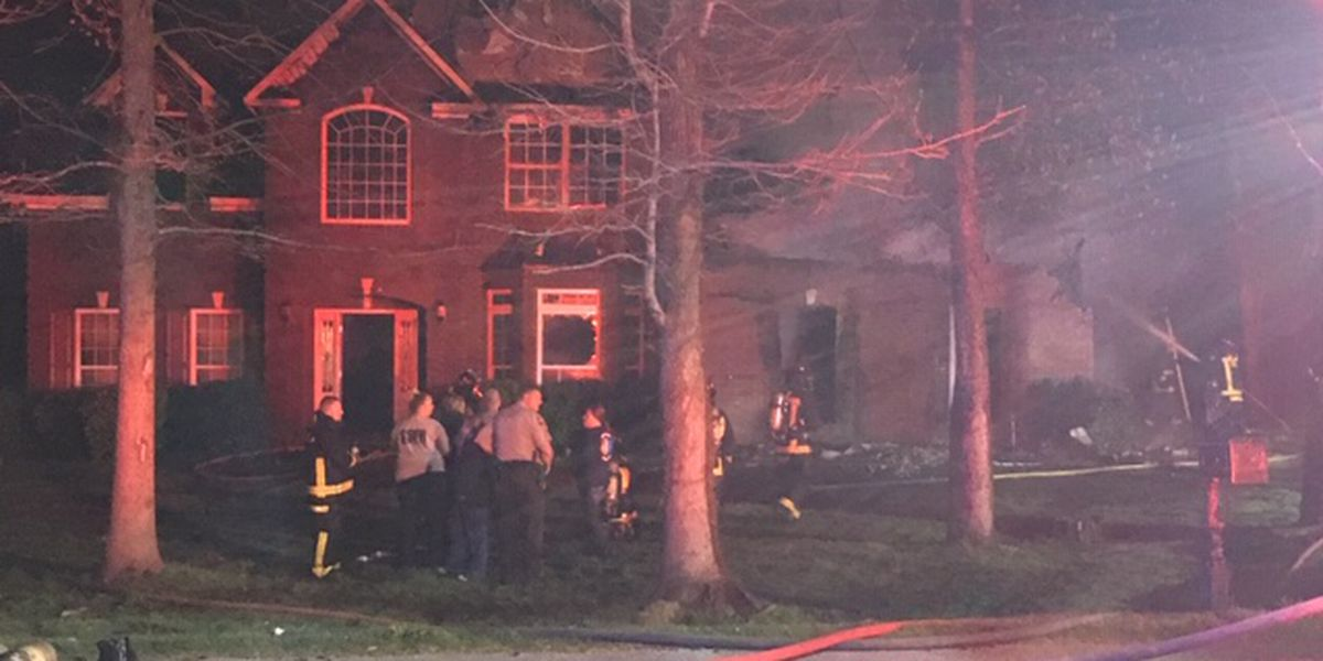 Fire crews battling house fire on Lee Road 2099 in Phenix City