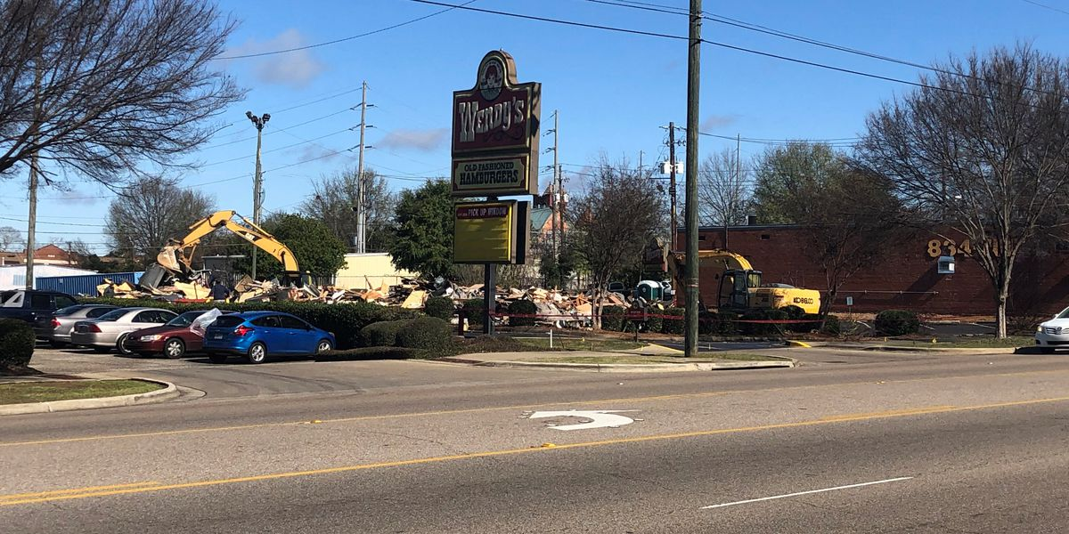 Downtown Wendy's restaurant demolished Friday morning