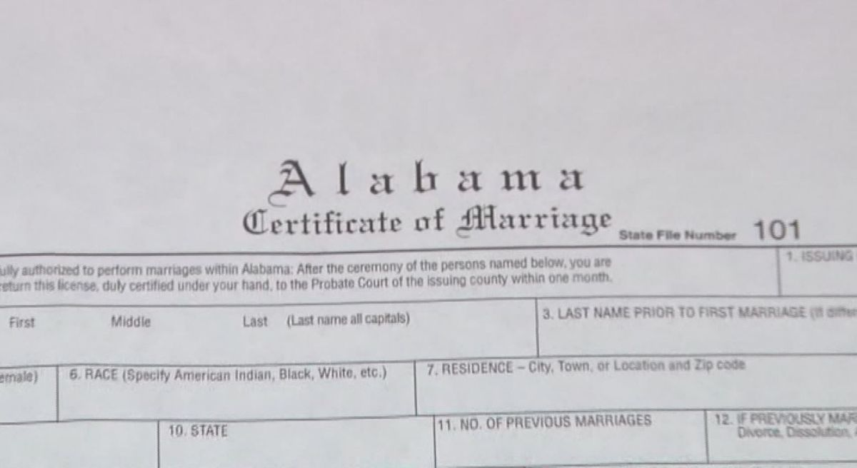 Alabama Says I Don T To Issuing Marriage Licenses