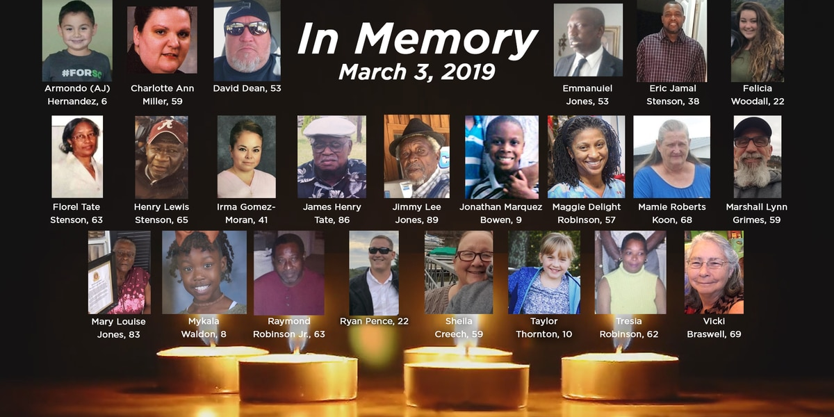 Ceremony held to honor 23 killed in 2019 Lee County tornado