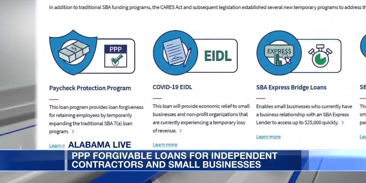 PPP forgivable loans for independent contractors and small businesses