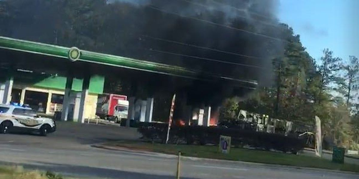 Vehicle fire reported at Montgomery County gas station