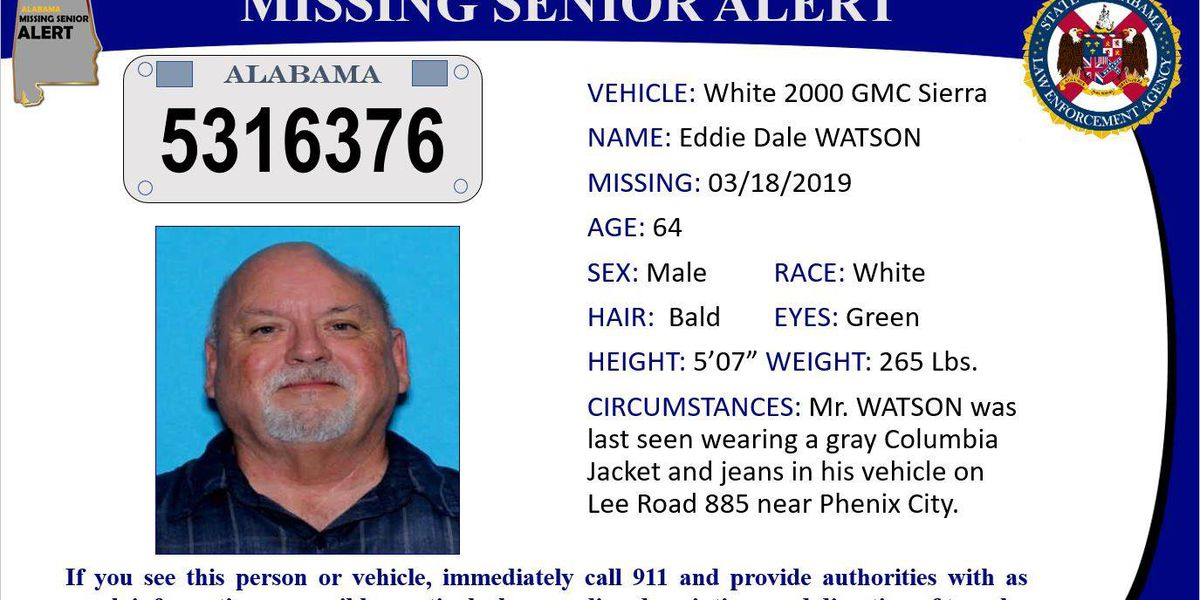 ALEA issues missing senior alert for Lee County man