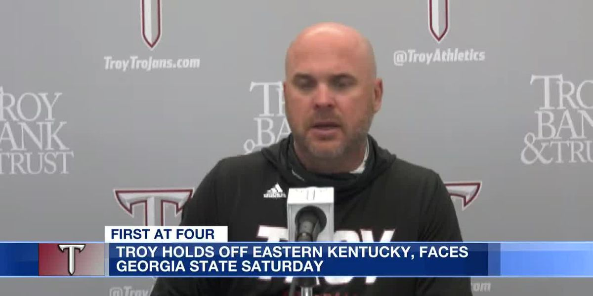 Troy head coach talks Eastern Kentucky victory