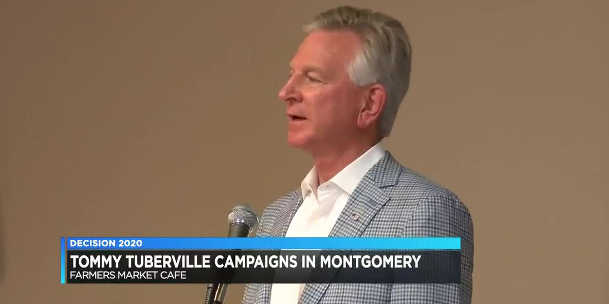 Tommy Tuberville campaigns in Montgomery