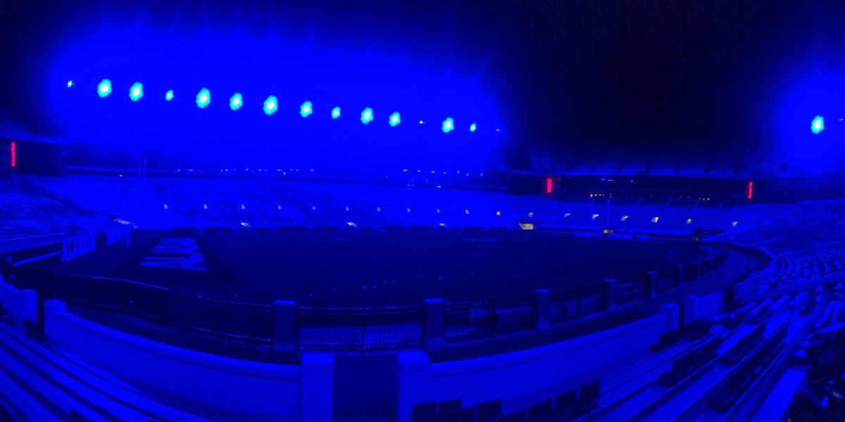 Bryant-Denny Stadium goes blue to remember fallen TPD Officer