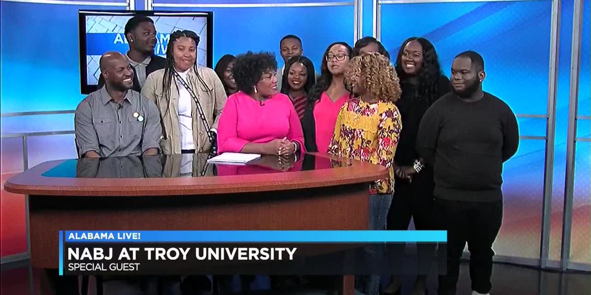 Students from Troy University's NABJ visit WSFA 12 News