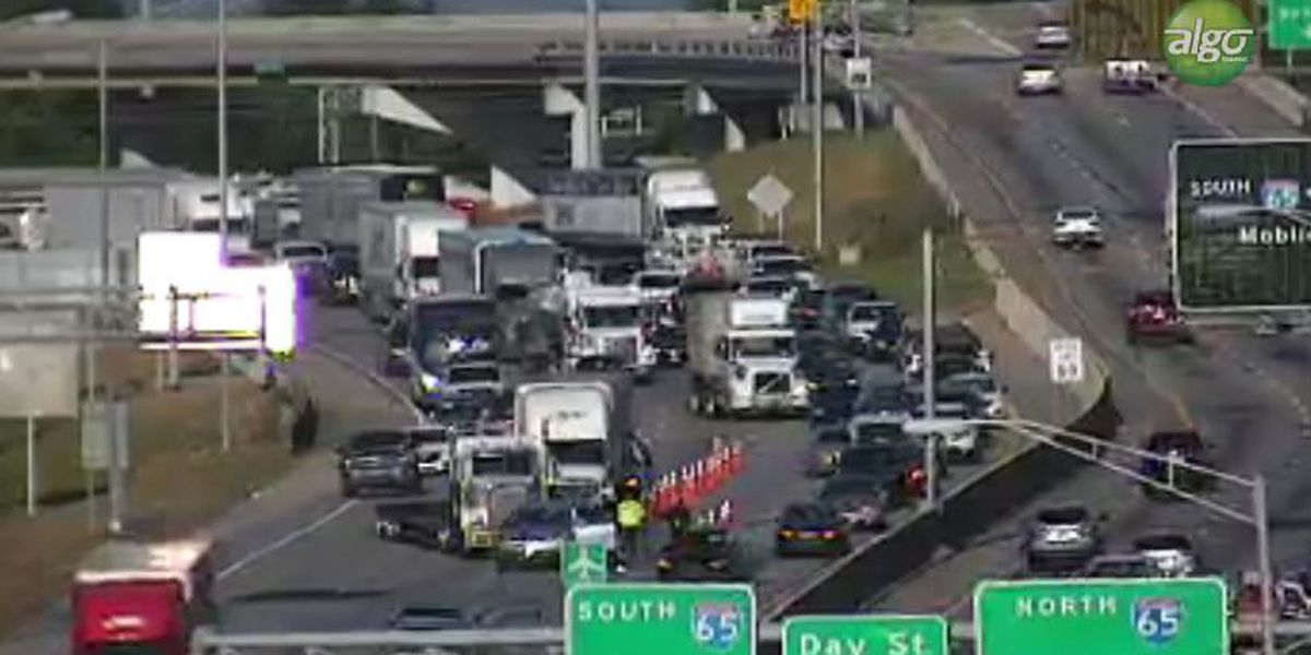 Heavy delays near I-65/I-85 interchange after crash