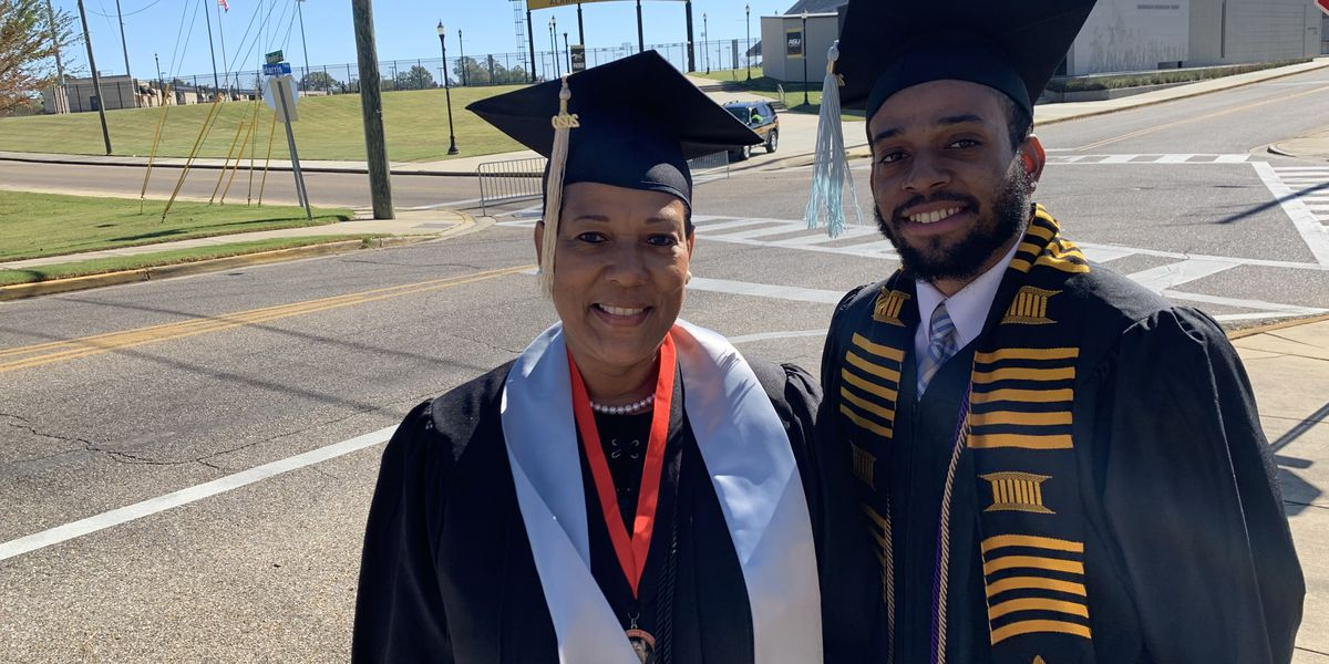 Family tradition: Mother and son both graduate from ASU on same weekend