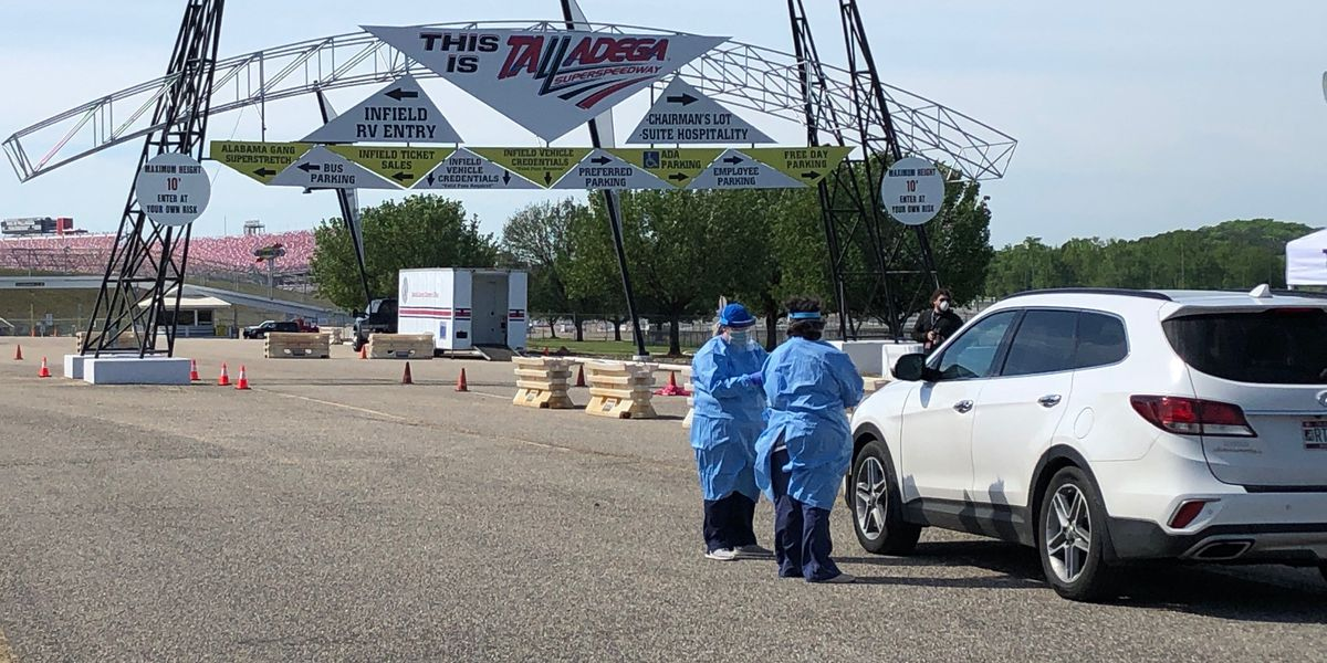 Talladega Superspeedway entrance hosts COVID-19 testing clinic