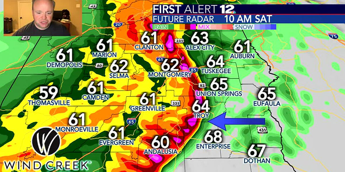 Latest data shows significant damaging wind threat Saturday morning
