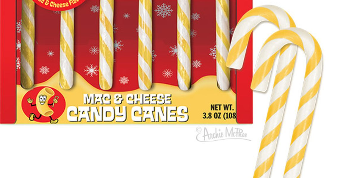 Company sells mac and cheese flavored candy canes