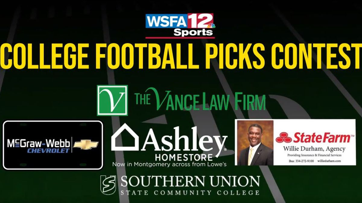 WSFA 12 Sports College Football Picks Contest