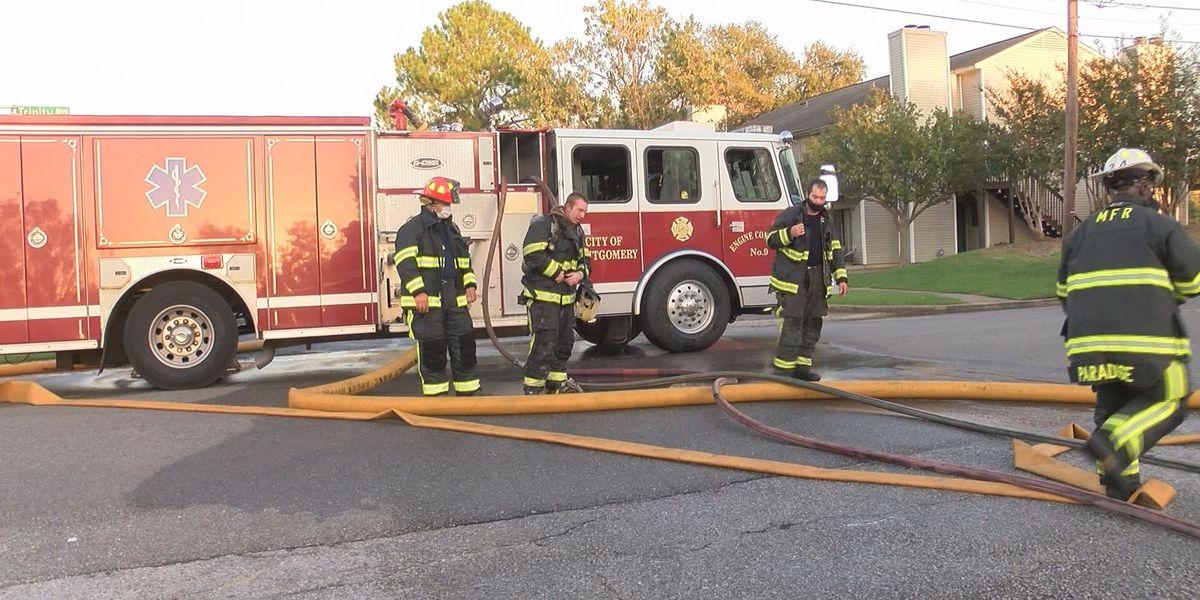Montgomery fire crews extinguish structure fire