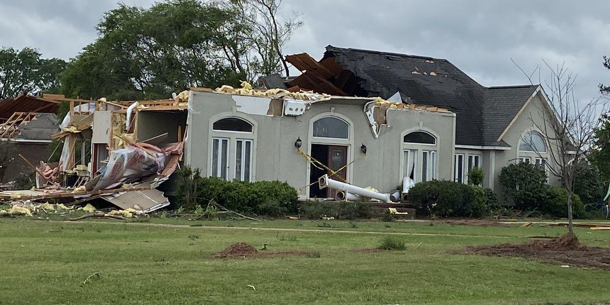 Drone video shows Eufaula tornado damage