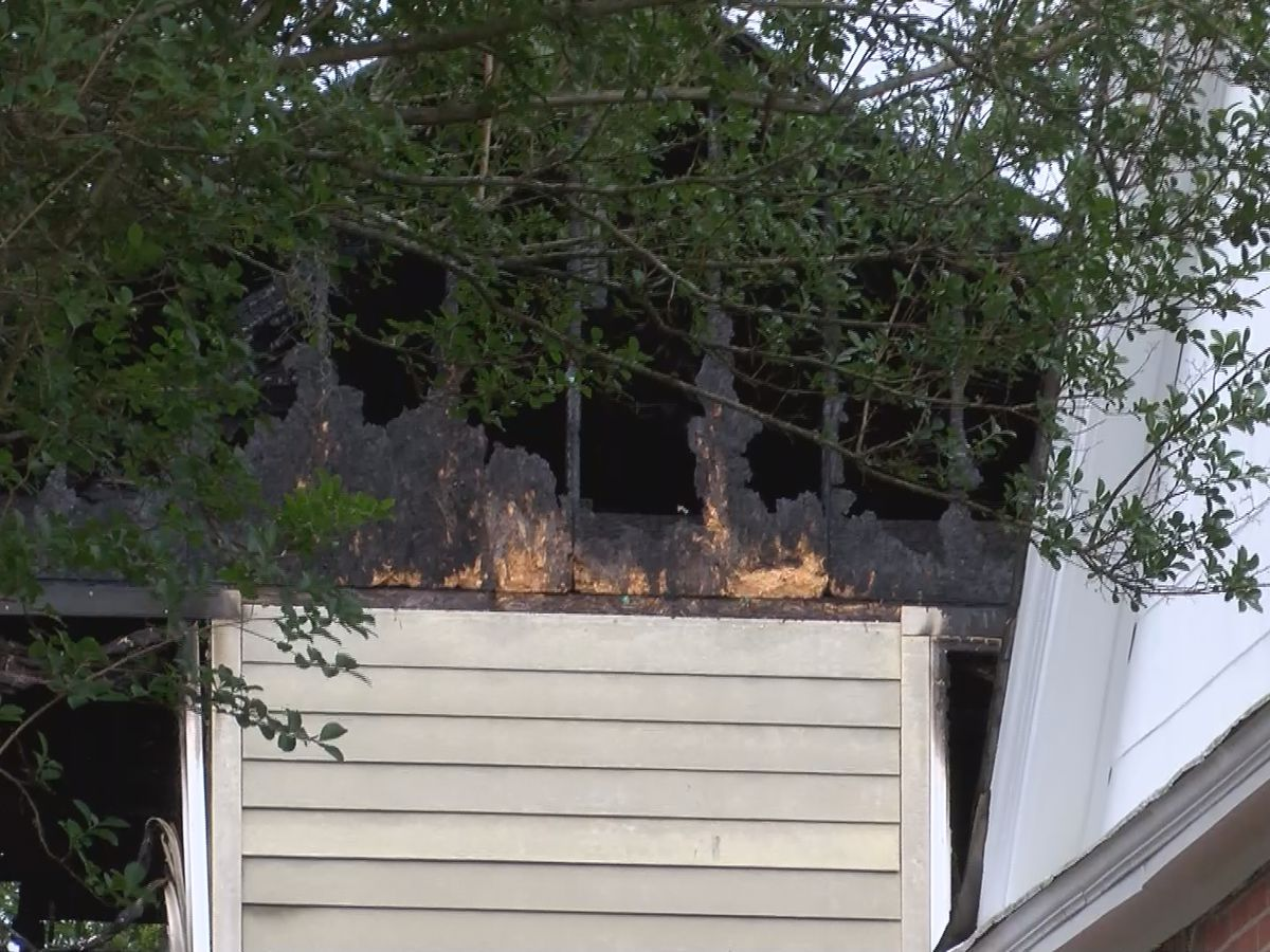 'It sounded like a loud pop': Lightning sparks fire in Montgomery neighborhood