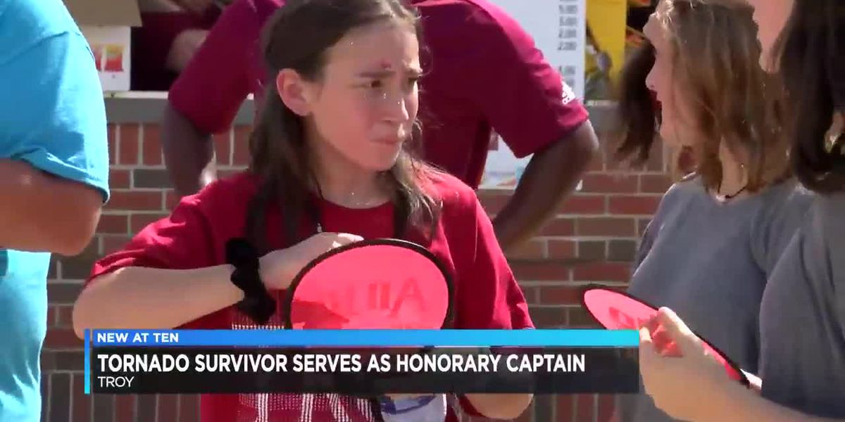 Tornado survivor serves as honorary captain