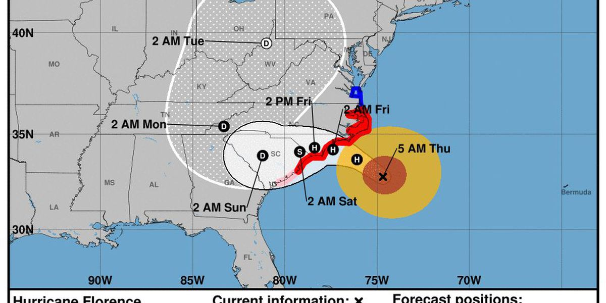 First Alert: Florence now a category 1 hurricane; still very dangerous
