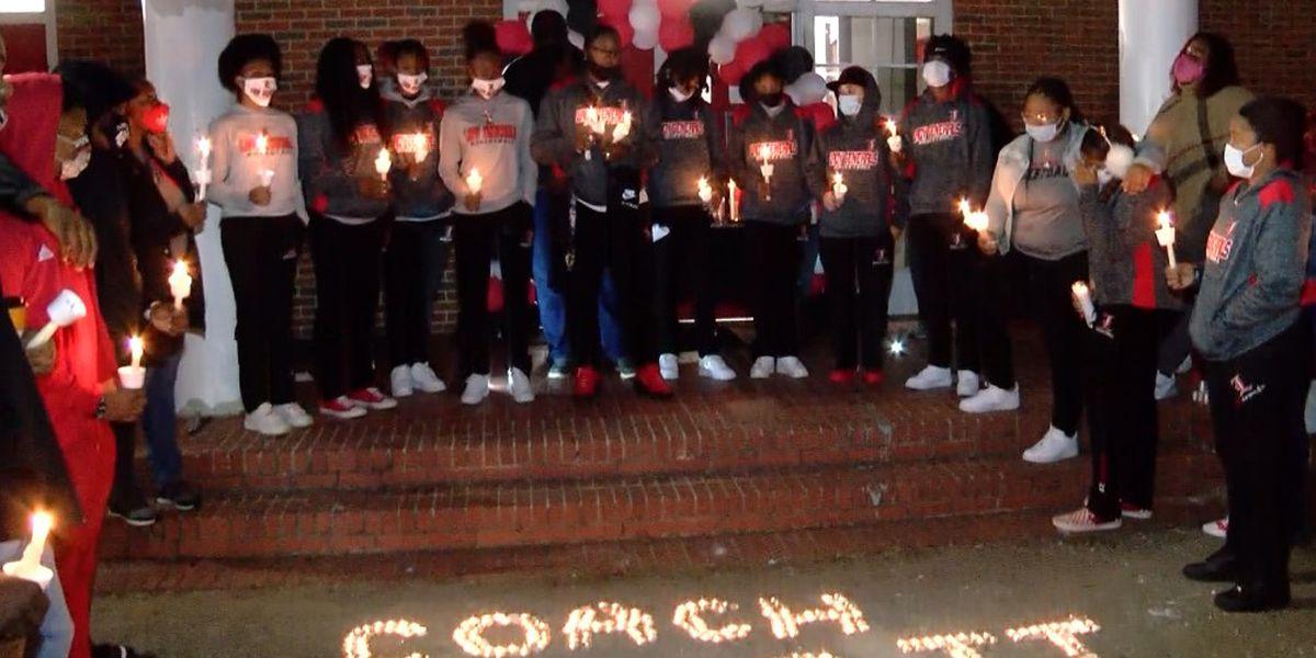 Vigil held to remember Montgomery high school basketball coach